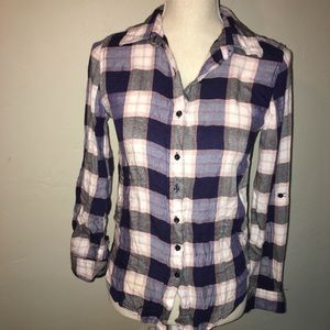 Romeo And Juliet Couture Button Down Plaid Shirt